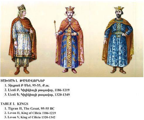 Illustrations of Armenian kings