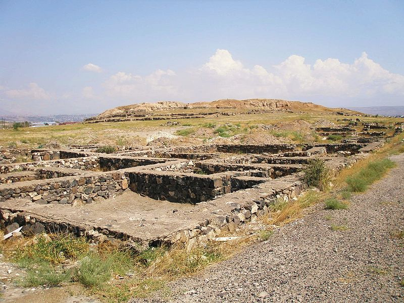 The archaeological excavation site at Karmir Blur