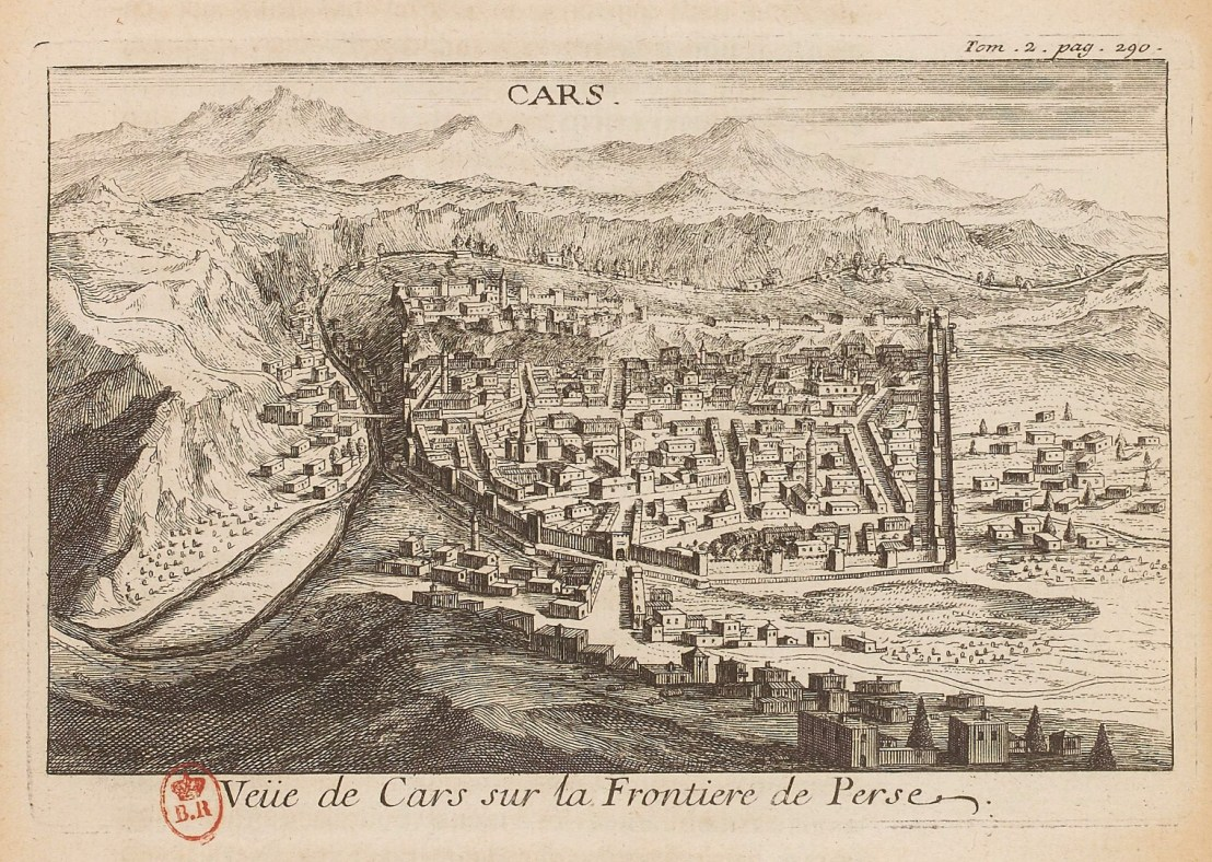 Illustration of Kars by  Joseph Pitton de Tournefort (1656-1708)