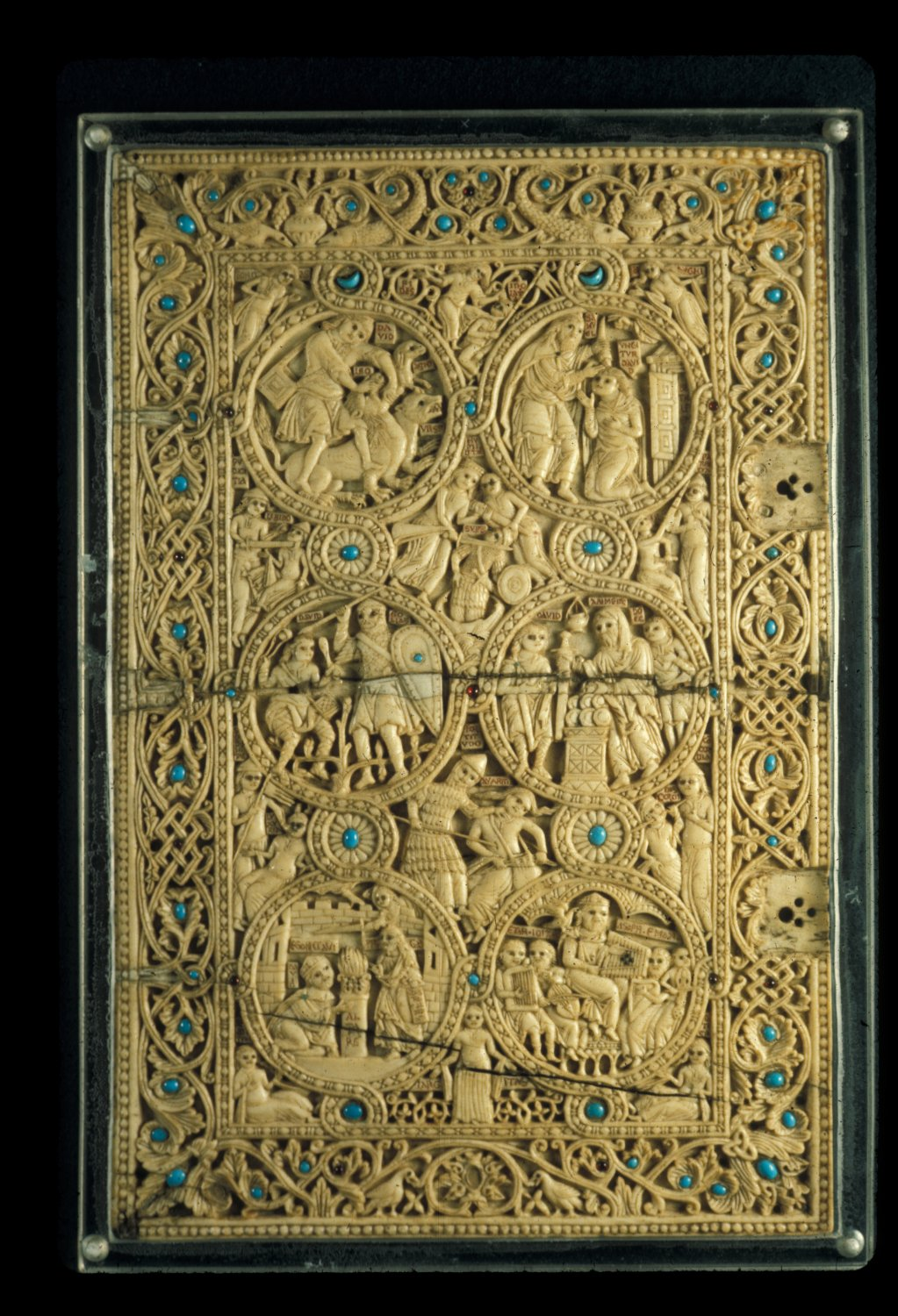 Melisende Psalter Upper Cover Jerusalem 1130-1143 in the British Museum