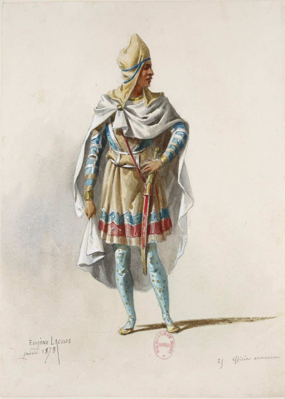 Armenian Officer by Eugene Lacoste