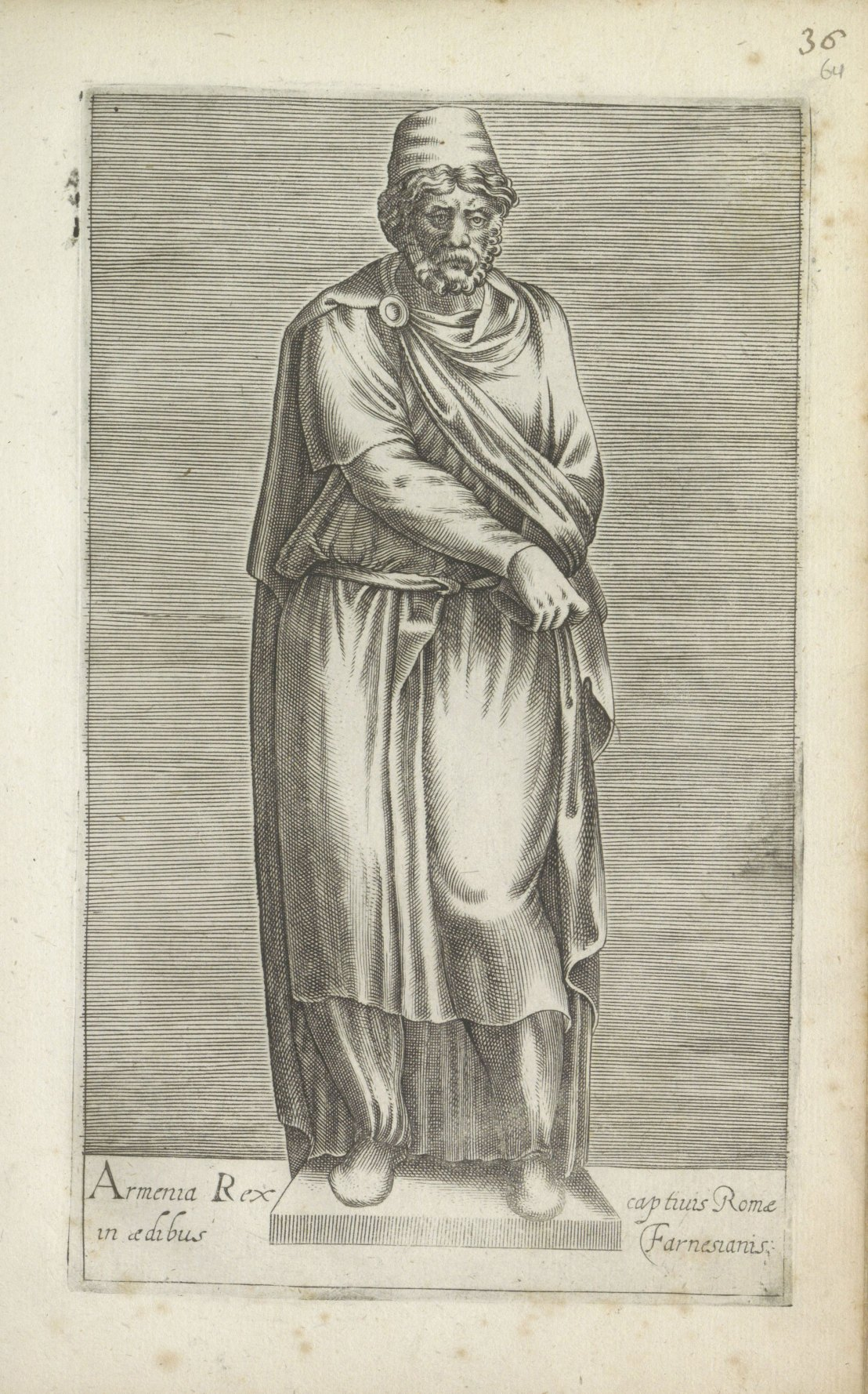 Sculpture of an ancient Armenian prisoner, anonymous,1584