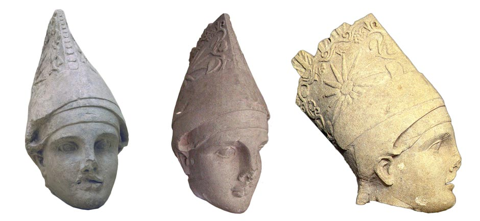 Small statue of Antiochus I Theos of Commagene photgraphed from different angels (found at mount Nemrut burial sight)