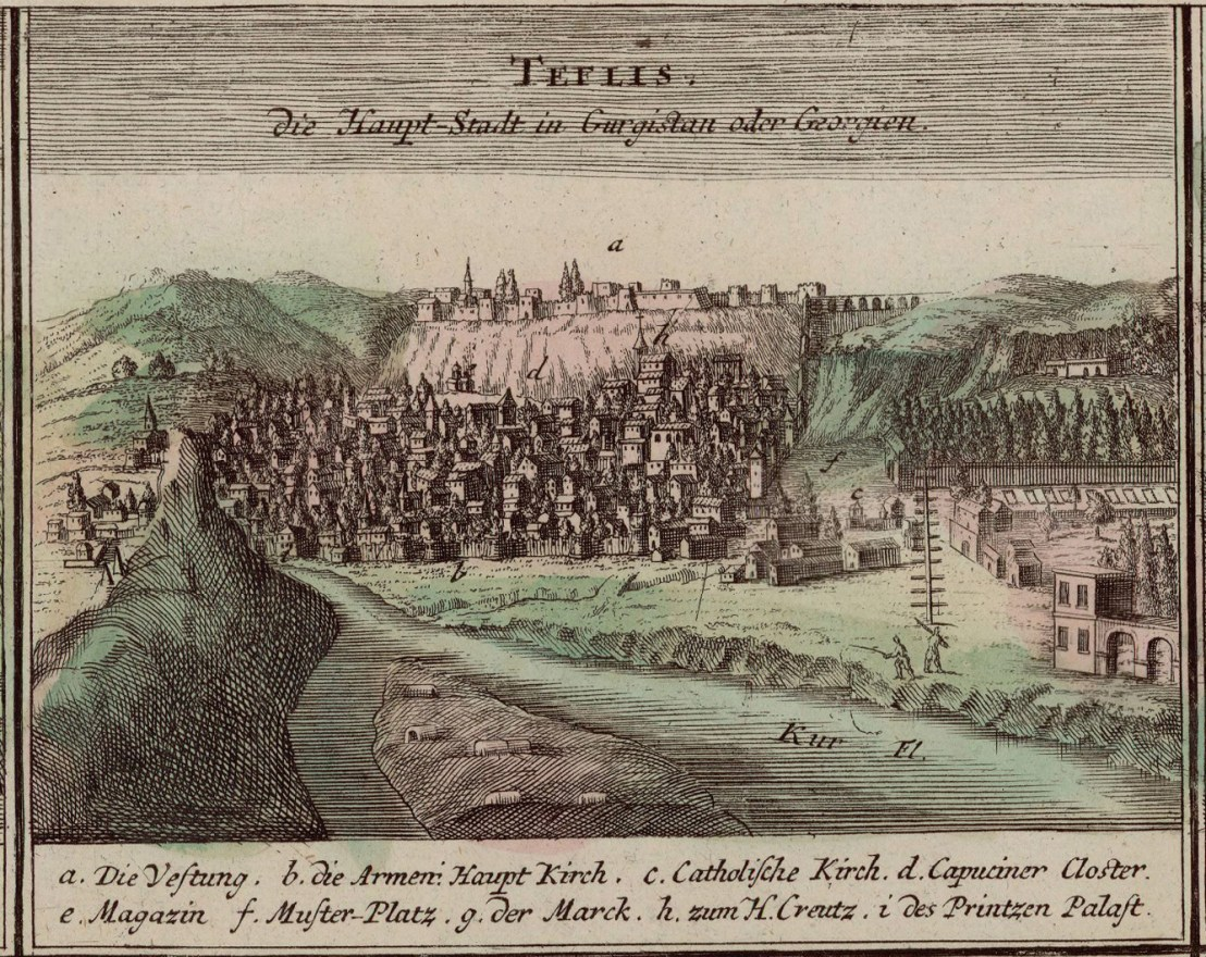 Tiflis illustrated by Johann Baptist Homann (1663-1724)