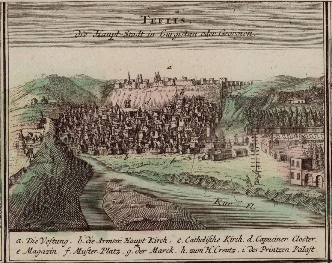 Tiflis illustrated by Johann Baptist Homann (1663-1724)
