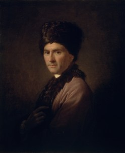 A 1766 portrait of Rousseau wearing an Armenian costume by Allan Ramsay.