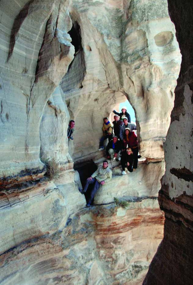 Research team visit to Tzarakar Monastery in 2010
