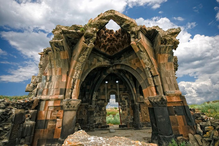 Church in Ani capital of Armenia