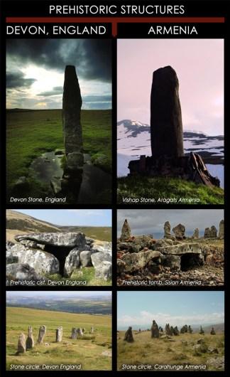 Striking similarities between prehistoric monuments in Devon England, and Armenia