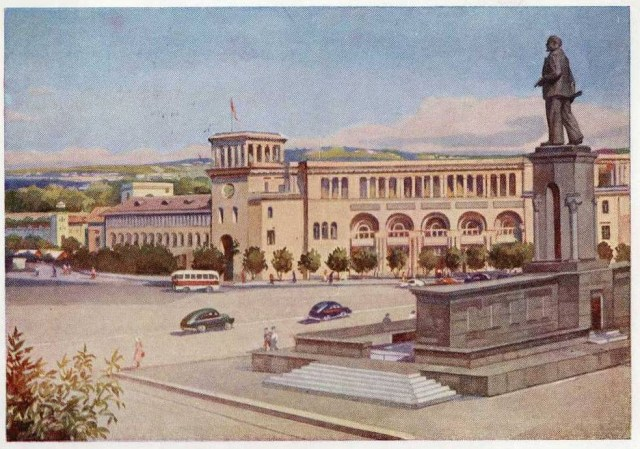 Armenia Yerevan, Lenin square , 50ies.
