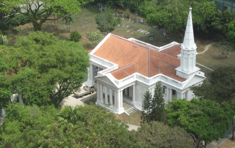Armenian Church Singapore, top view