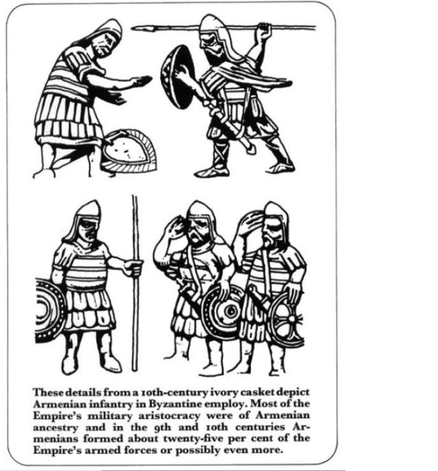 Armenian Infantry Byzantine army salut - Byzantine Armies 886 - 1118, Ian Heath (2004)