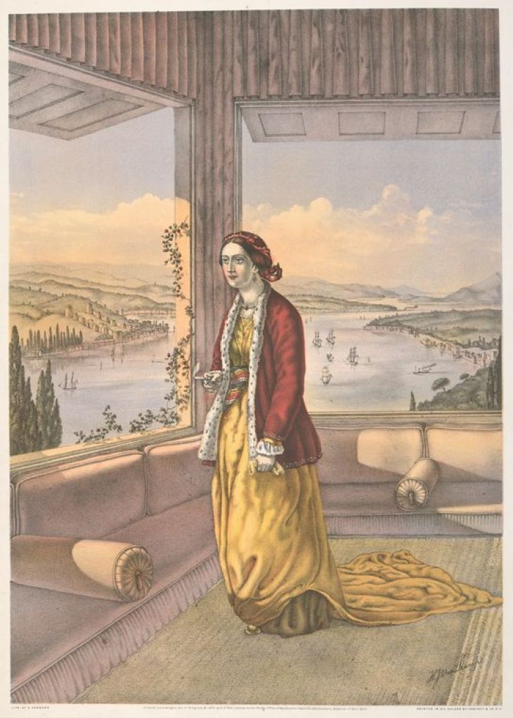 Armenian Lady (At Home) by Van-Lennep, Henry John, 1815-1889