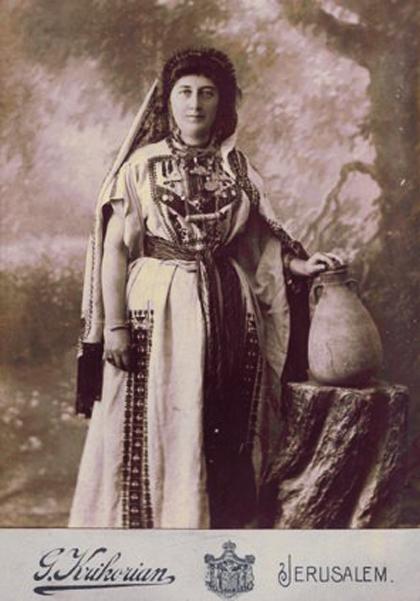 Armenian lady from Jerusalem,1890