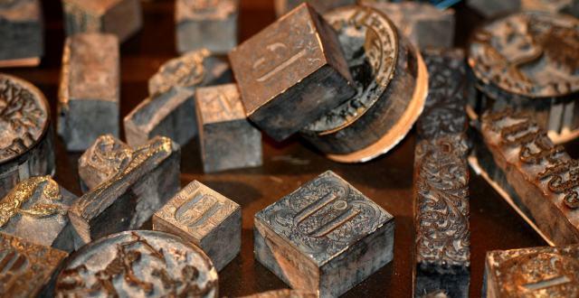 Armenian printing blocks - 17th century (The British Library)