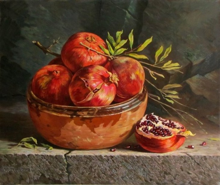 Bowl of Pomegranates by Rubik Kocharian