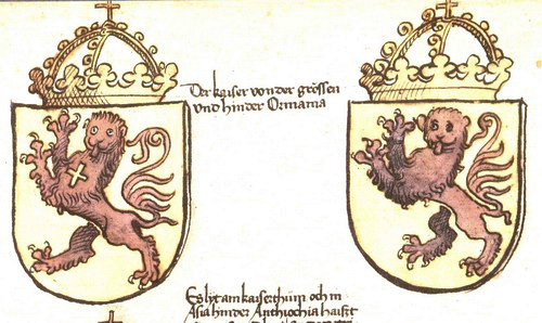 Coat of arms of Greater Armenia, from the Chronicles of the Council of Constance.
