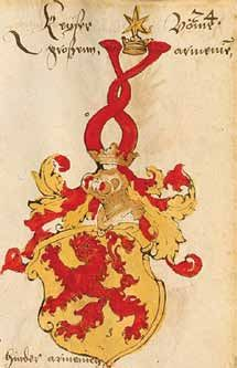 Coat of arms of the king of Greater Armenia, according to German sources illustrated at the beginning of the 16th century.