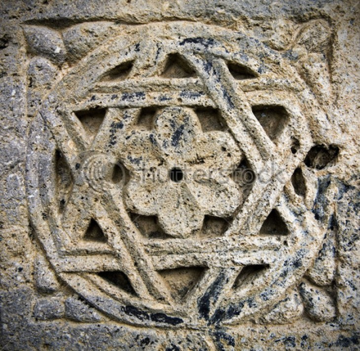 Decoration on Medieval Armenian cross-stone