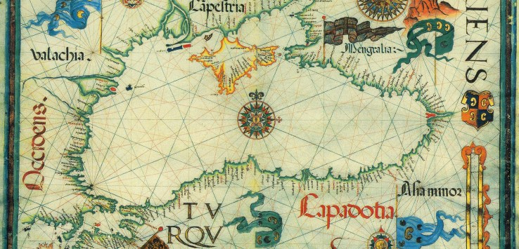 Diego Homem Black Sea ancient map 1559