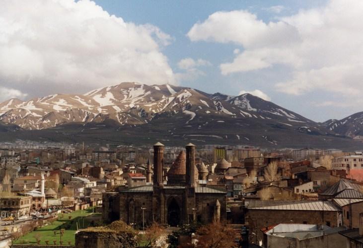 View of modern Erzurum, East Turkey.