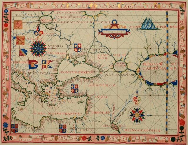 Map of Near East -  Fernão Vaz Dourado 1570.