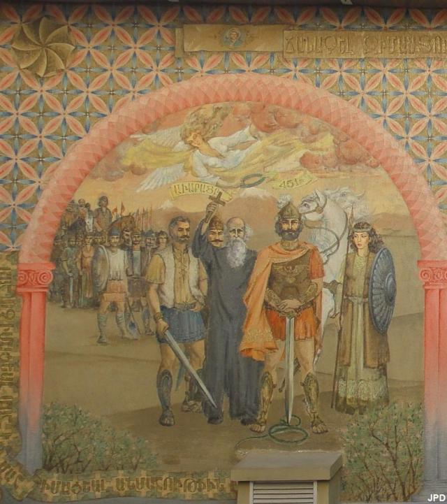 Fresco on Armenian church in Paris