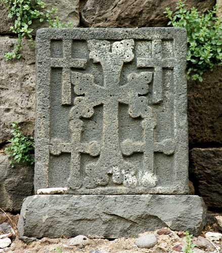 Geghard monastery cross-stone
