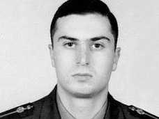 Gurgen Markarian, an Armenian army officer who was axe-murdered by an Azerbaijani colleague during a NATO training course in Budapest, 25 Feb 2004.