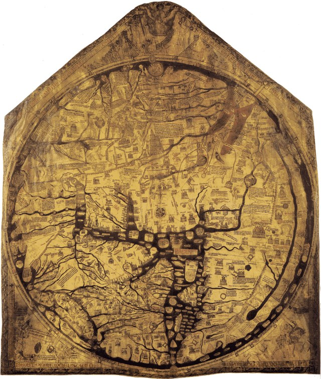 Hereford Cathedral Mappa Mundi 13th century
