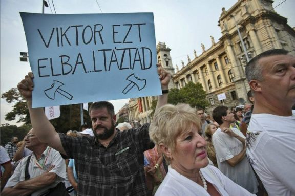 Hungary protest against against decision to extradite Ramil Safarov 04-09-2012