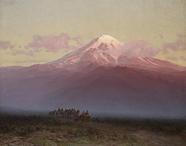 Ilya Nikolaevich Zankovsky, karavan at the foot of mount Ararat