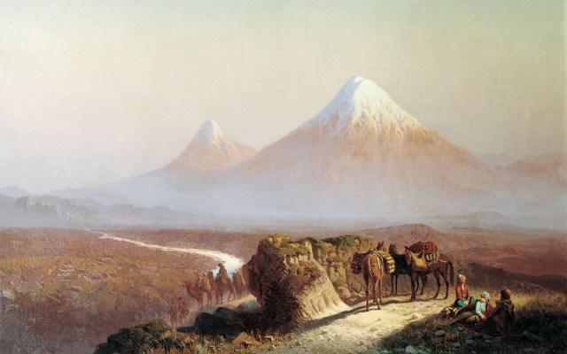 Ilya Nikolaevich Zankovsky, view of mount Ararat