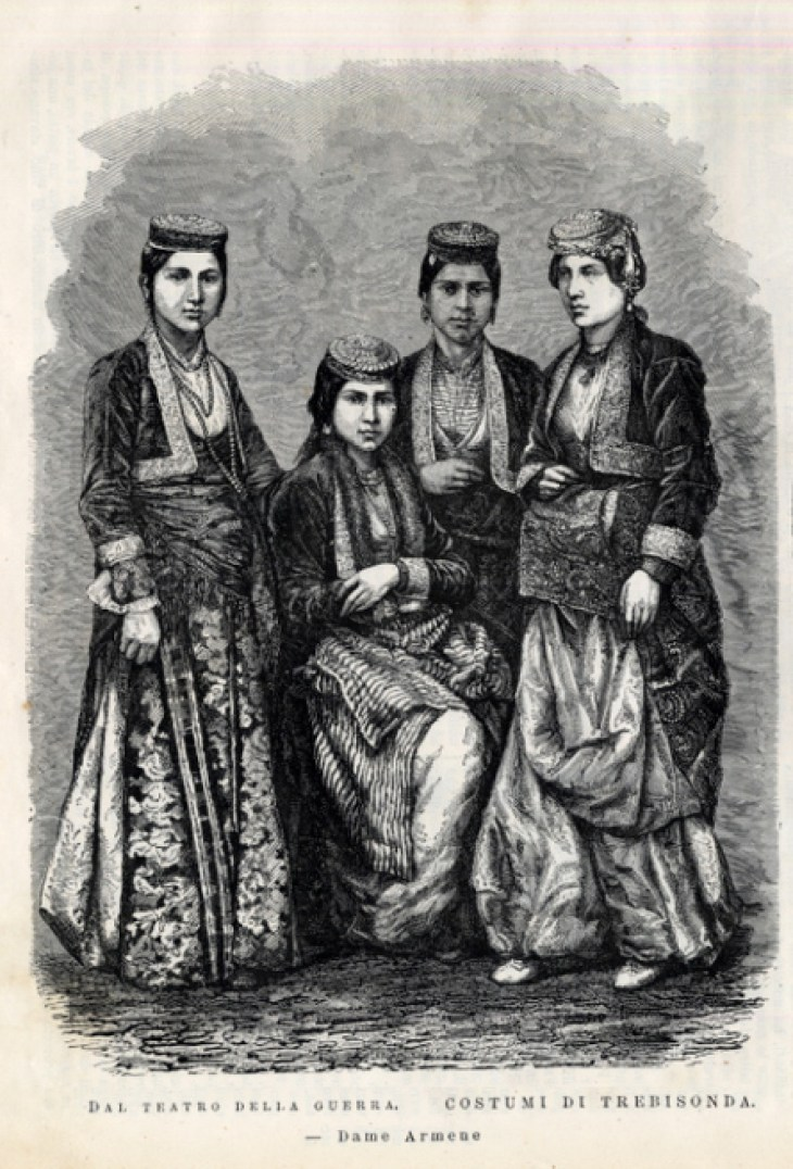 Armenian ladies from Trabzon, Italian magazine