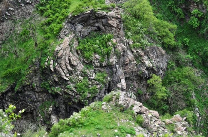 Koghes gorge rocks Alaverdi Armenia