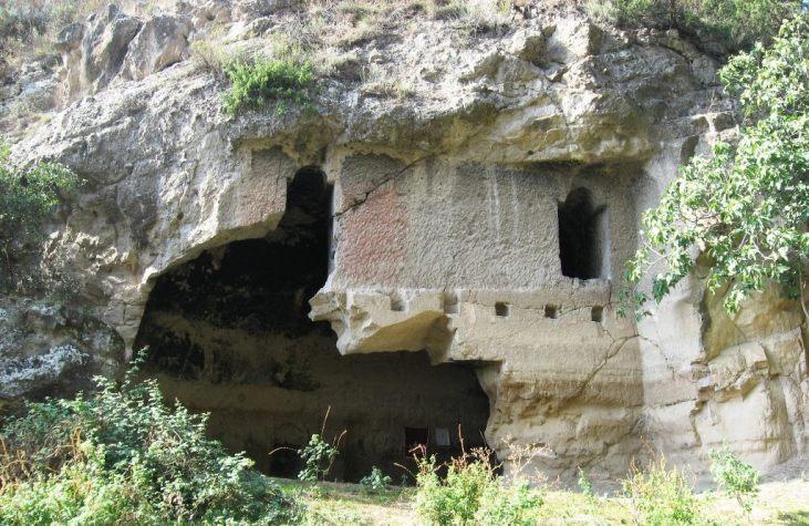 Kronk cave church (12-13 c) in the Tsaghkaberd village, Qashatagh region