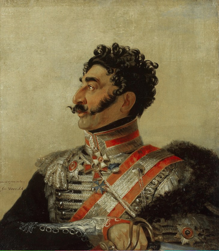 Portrait of General Valerian Madatov by George Dawe from the Military Gallery, 1820.