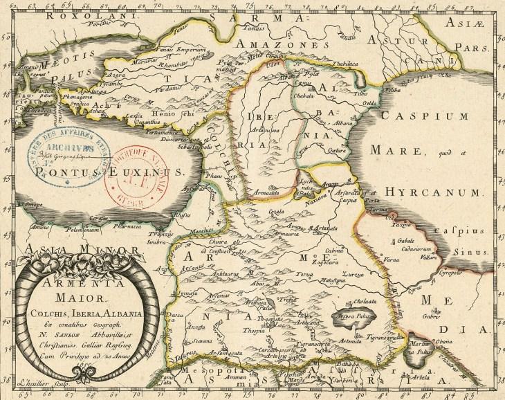 Map of Caucasus 1655