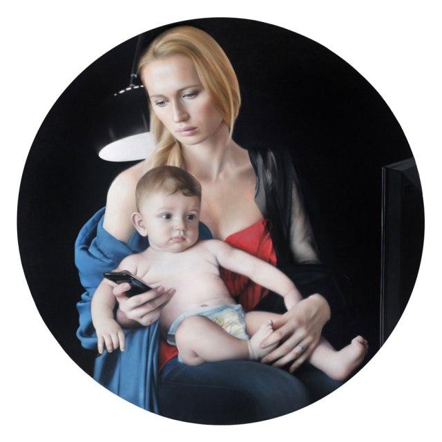 "Millenium (2010) 47"" x 47"" / 120 x 120 cm, oil on canvas, private collection"