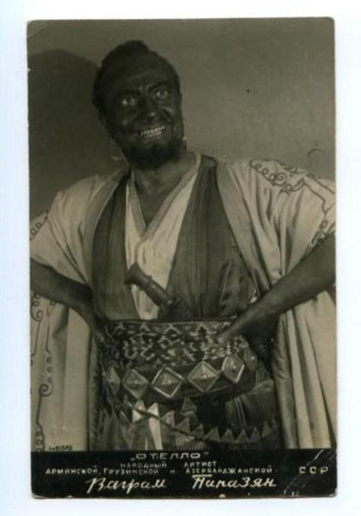 Papazyan Armenian drama actor -playing Otello