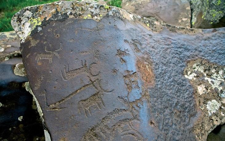 Neolythic Petroglyphs of Ukhtasar mountain in Armenia