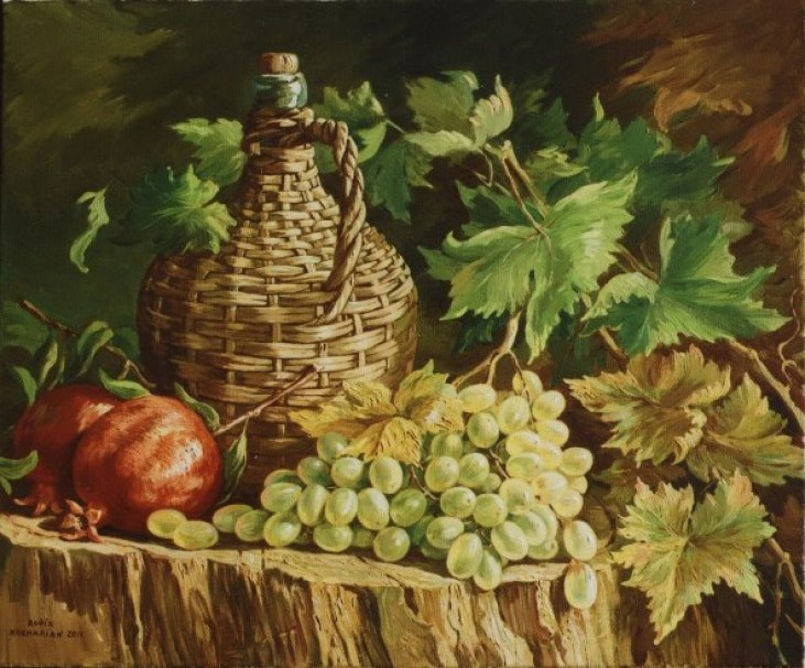 Pomegranates & Grapes by Rubik Kocharian