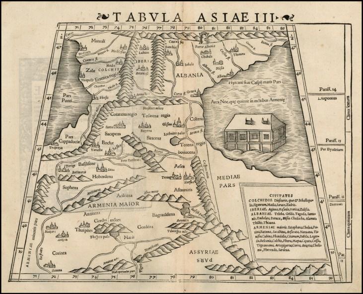 Ptolemy map of Armenia Major, Colchis, Iberia, Albania,-1535-1400