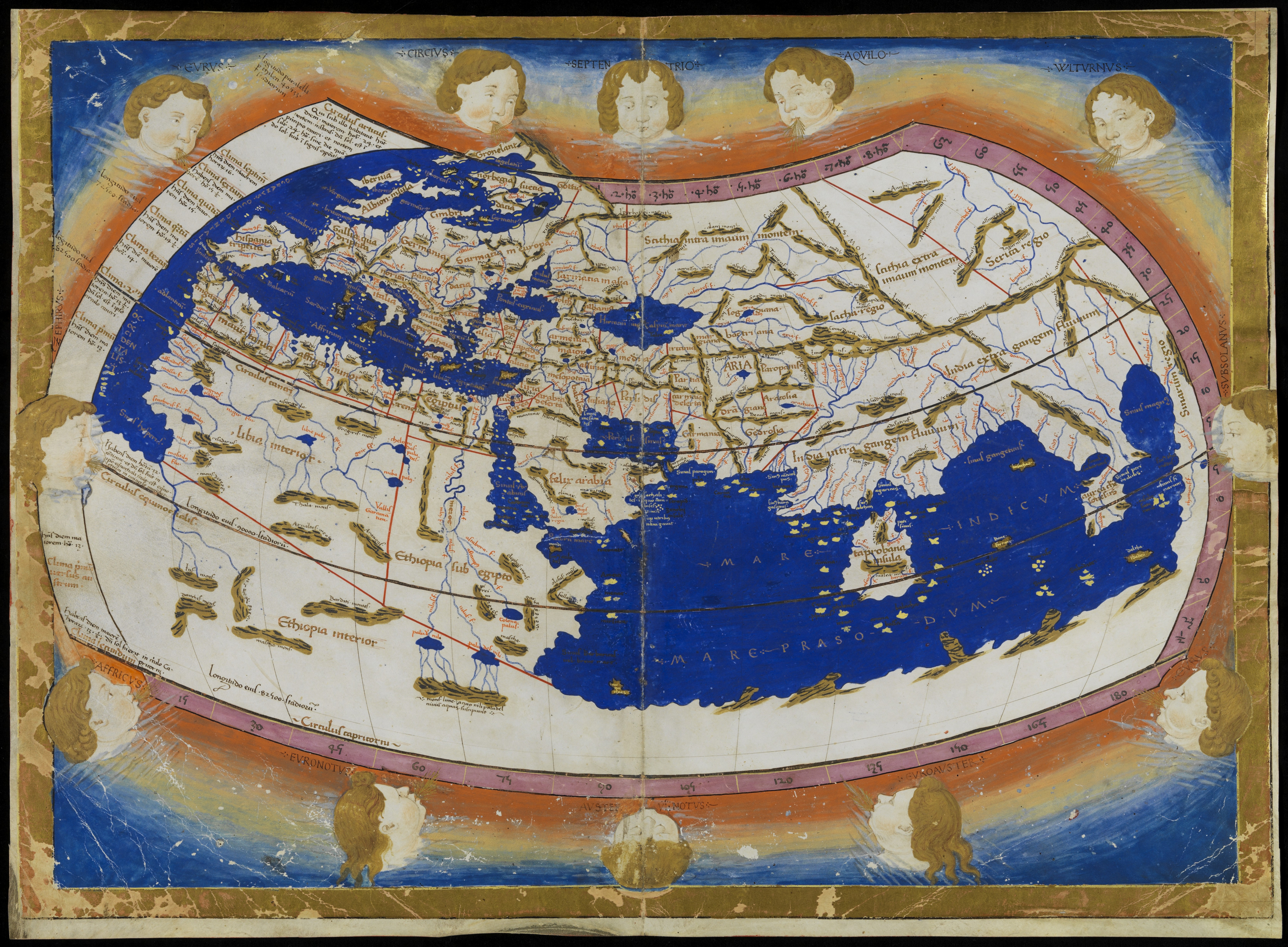 Map Of The World By Claudius Ptolemy 2nd C Ad Peopleofar
