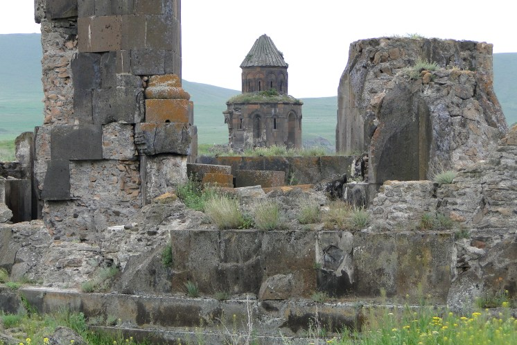 Ruins with Church at Rear - Ani (Ancient Armenian Capital) - Near Kars - Turkey