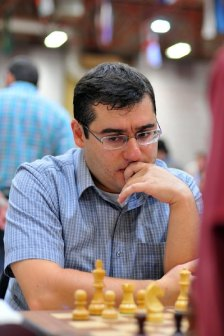 Sergei Movsesian during the final round (Photo by Arman Karakhanyan)