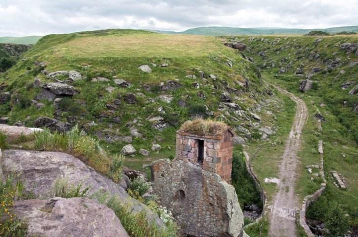 Scenery from Shirak Province, Harichavank complex (7th century AD).
