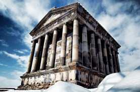 Temple of Garni, first pagan temple excavated in Armenia (1949)