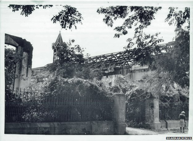 The Armenian church pictured at the end of WW2