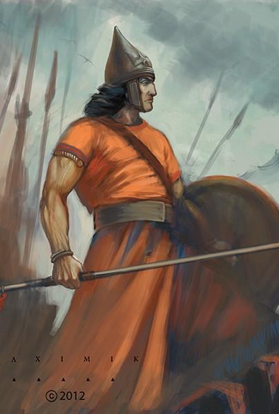 Urartian warrior by Alxemik